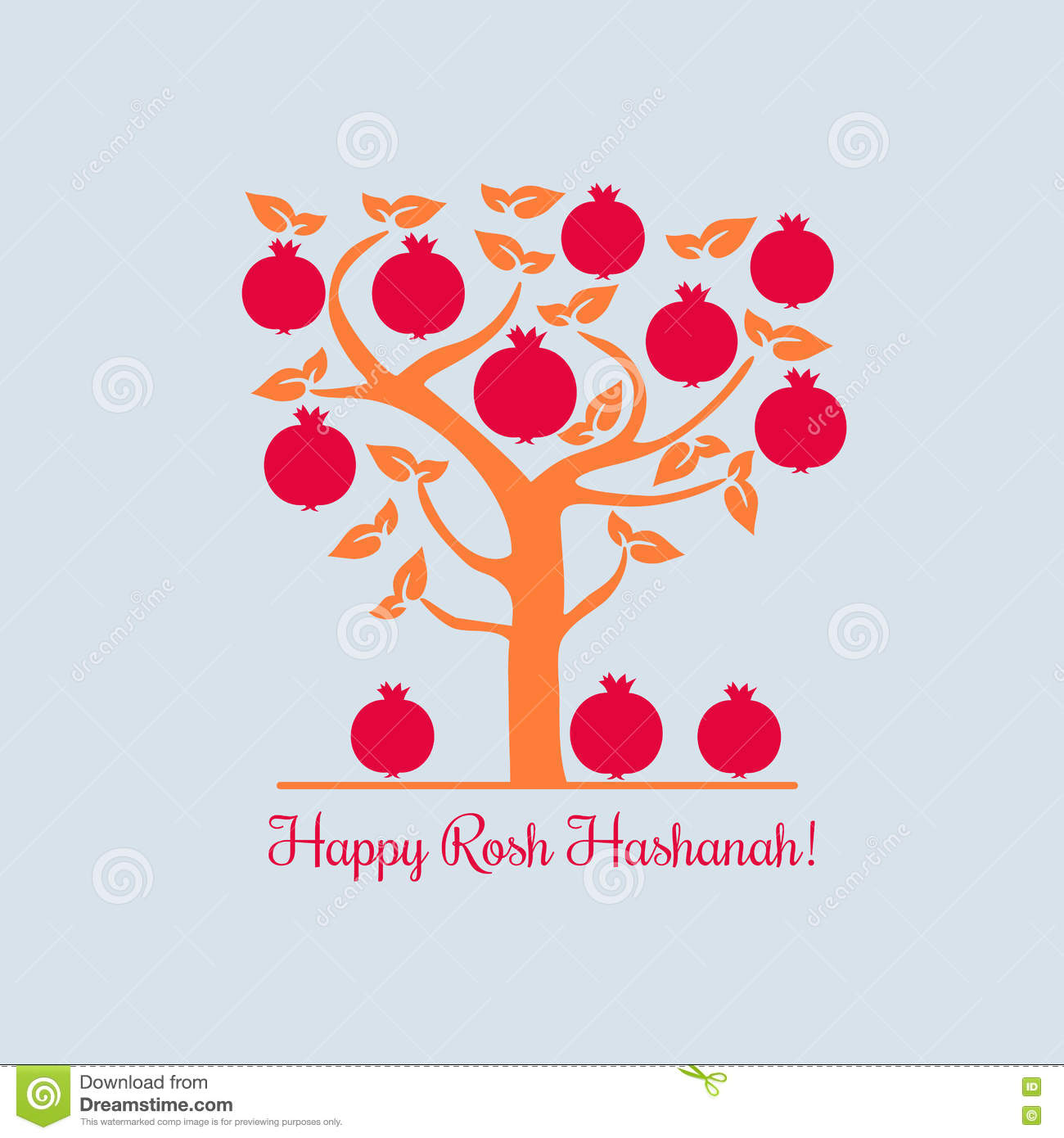 Happy rosh hashana stock vector illustration of healthy 77041729 rosh hashanah jewish new year concept traditional holiday symbols cute bright pomegranate template for greeting card design idea with element of happy m4hsunfo