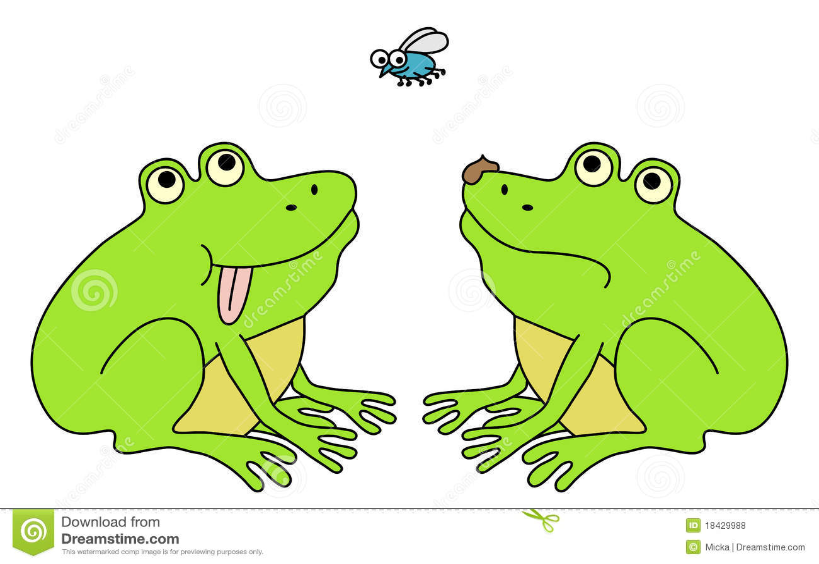 happy and sad frog royalty free stock photos image 18429988
