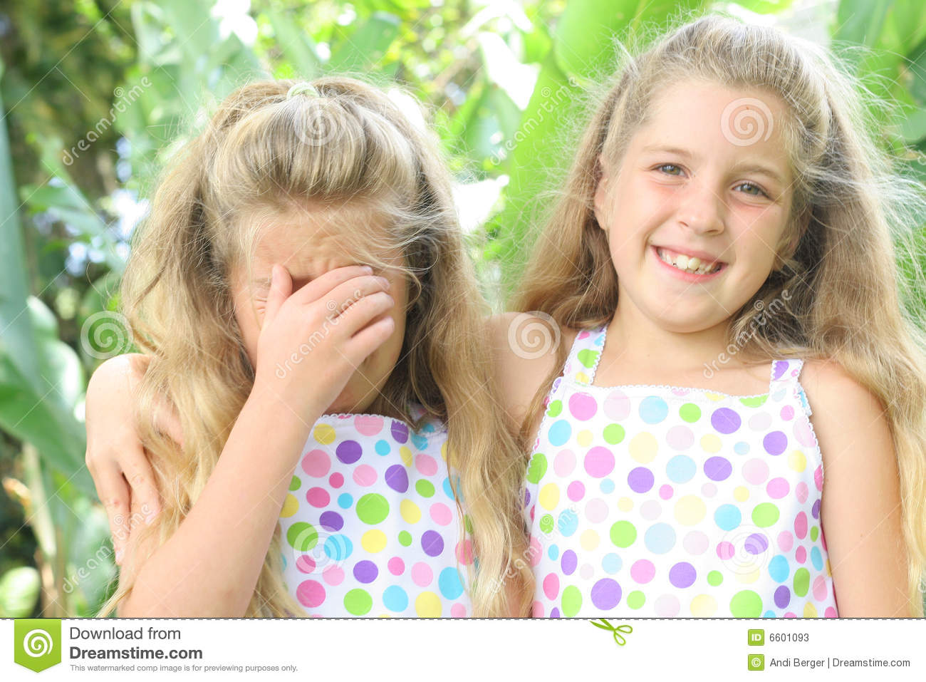 Happy Sad Sister Stock Image Image Of Outside Cute