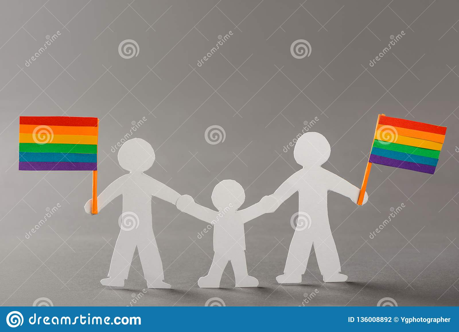 Happy same-sex family