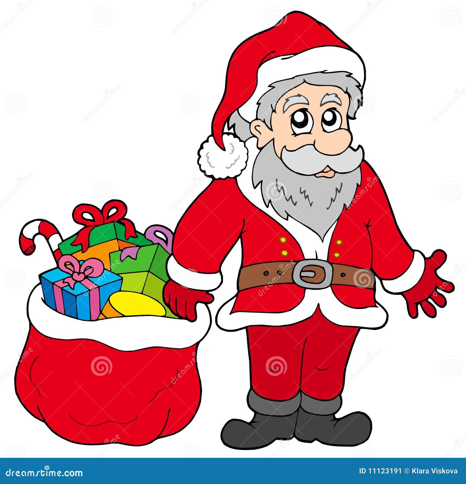 happy santa claus with gifts - Santa Claus Gifts
