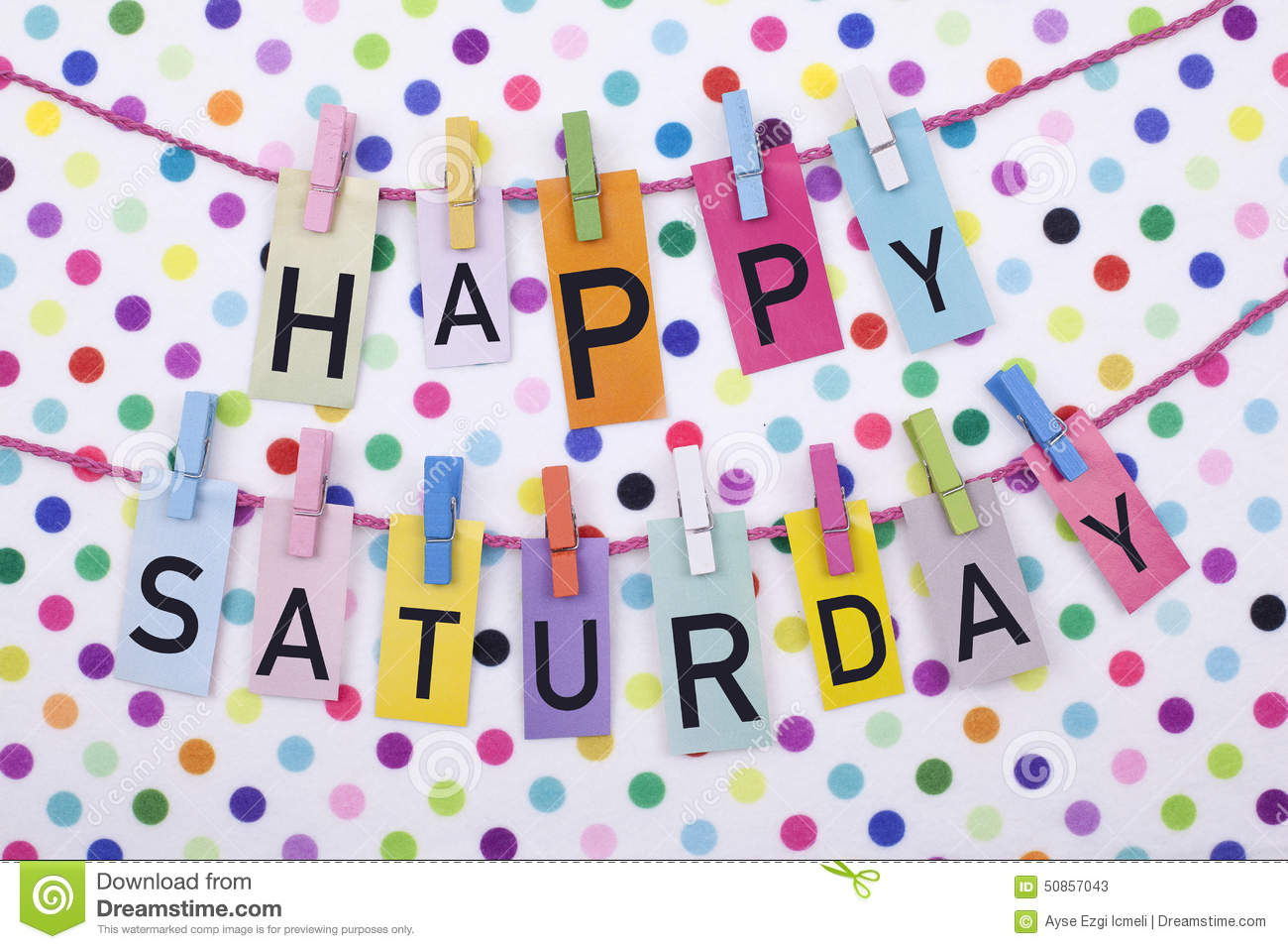 Cheerful colorful happy saturday note message background.