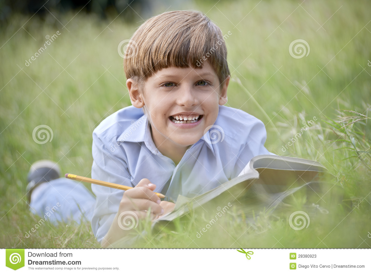 ... Listening To Music While Doing Homework Stock Photo - Image: 44821005