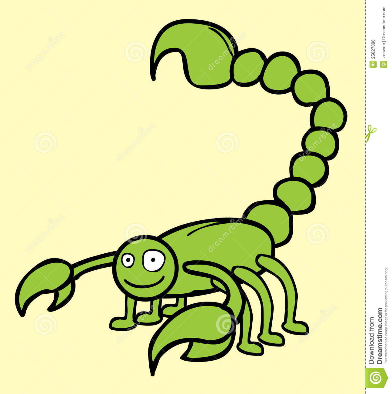 Happy Scorpion Royalty Free Stock Image - Image: 25827086