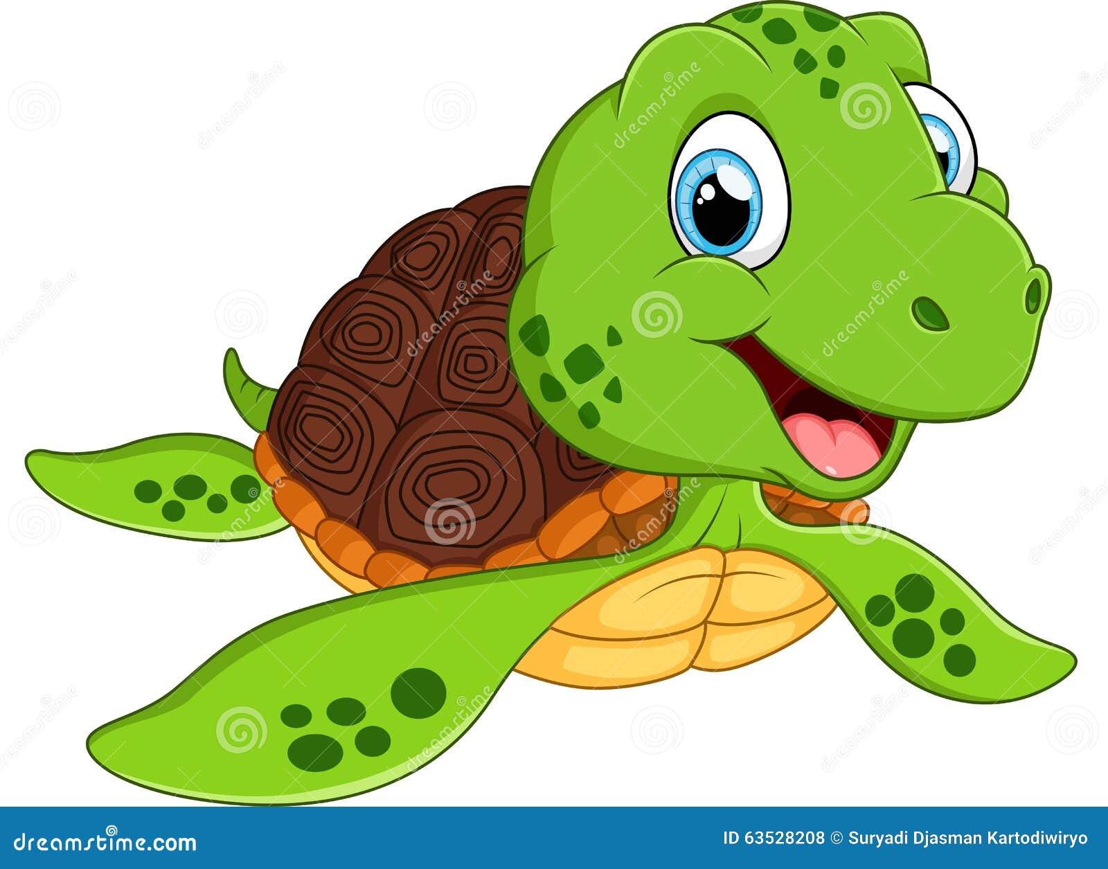 Happy Sea Turtle Cartoon Stock Vector - Image: 63528208