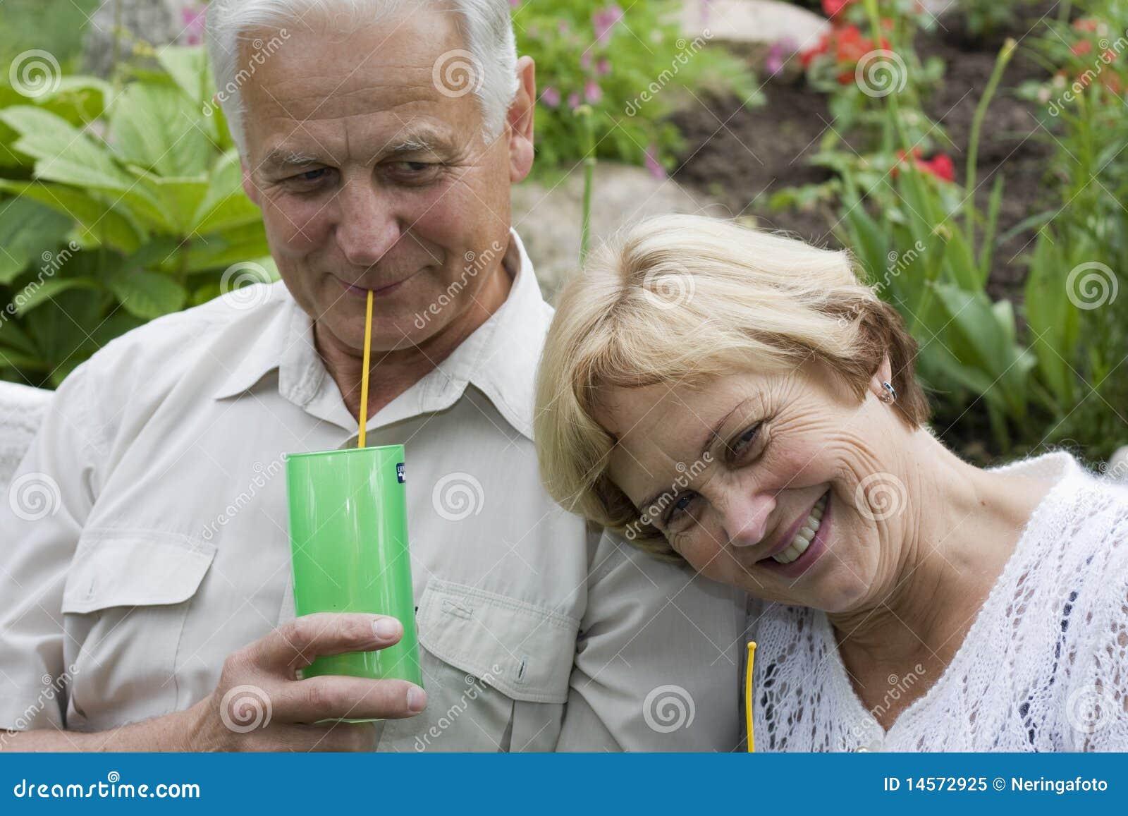 Happy seniors - 42 years in love