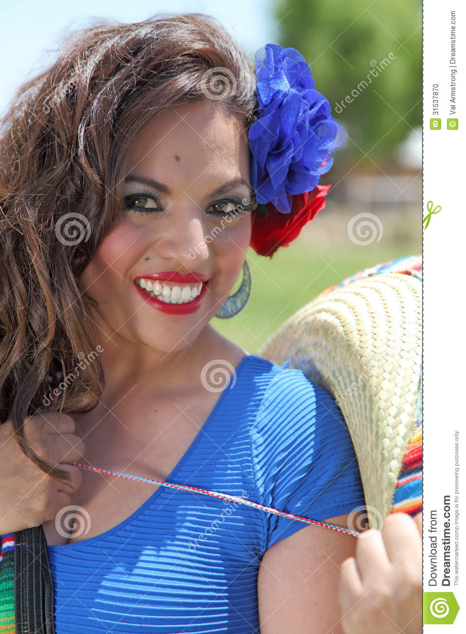 Happy Senorita Stock Photo - Image 31537870-5087