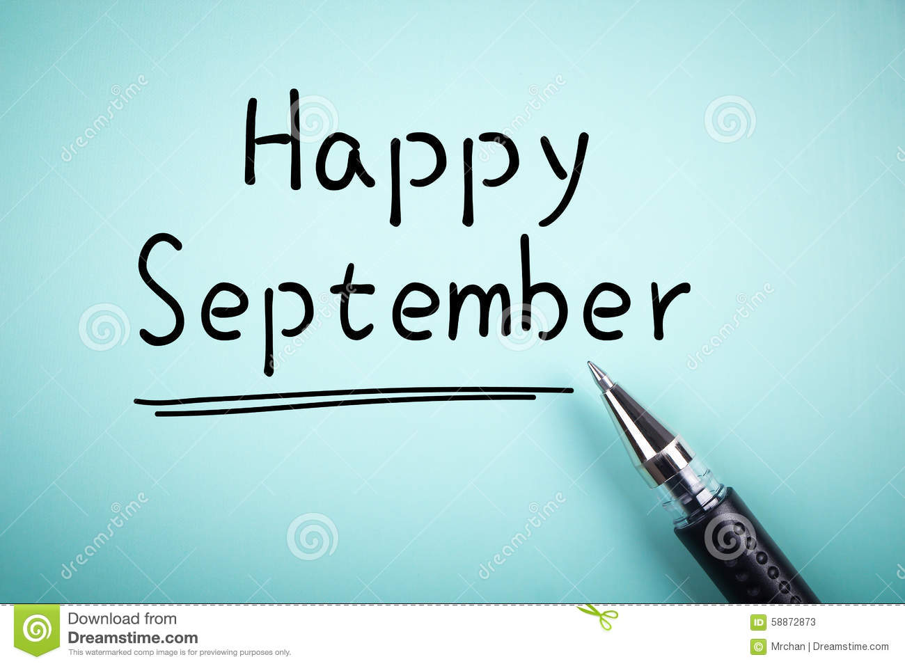 Happy September Stock Photo - Image: 58872873
