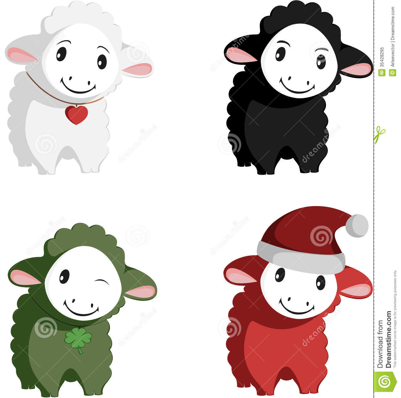happy sheep mascots royalty free stock photo image 35428295