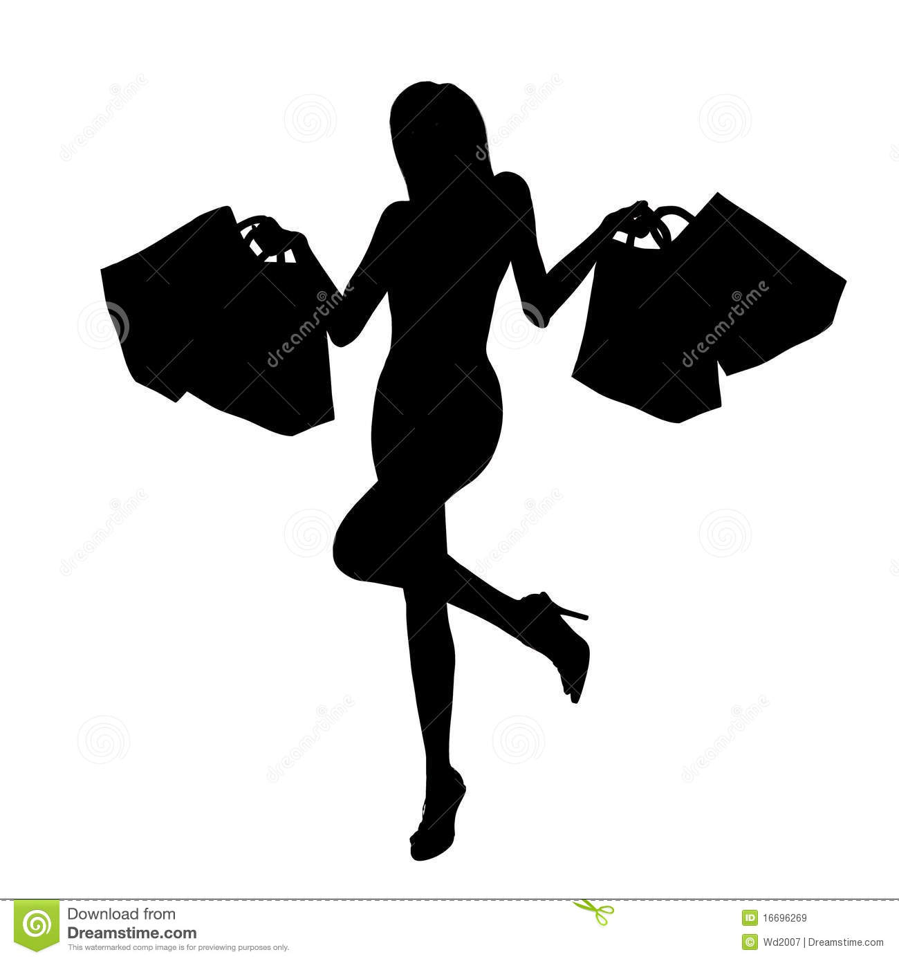 Happy Shopping Girl Royalty Free Stock Images - Image: 16696269