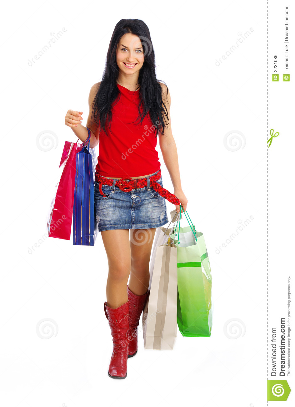 Happy Shopping Girl Royalty Free Stock Image - Image: 2231086