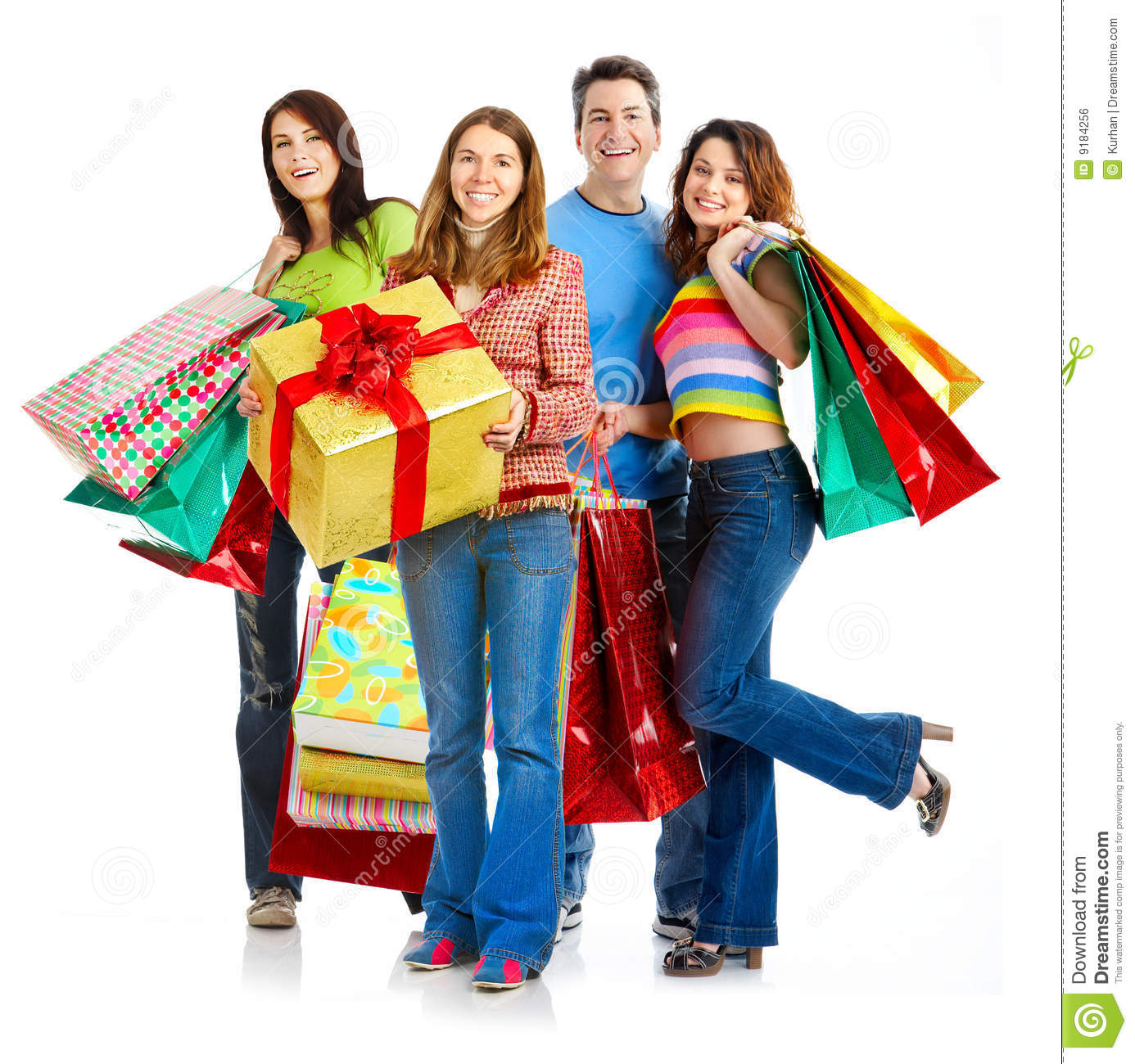Happy shopping people.
