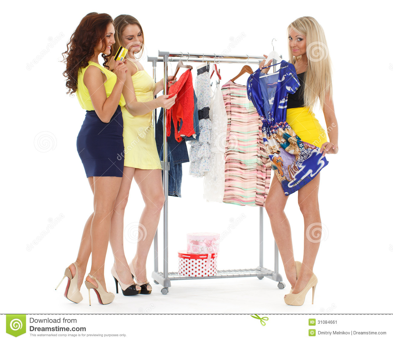 Happy shopping women stock image image 31084661 for Nearby boutiques