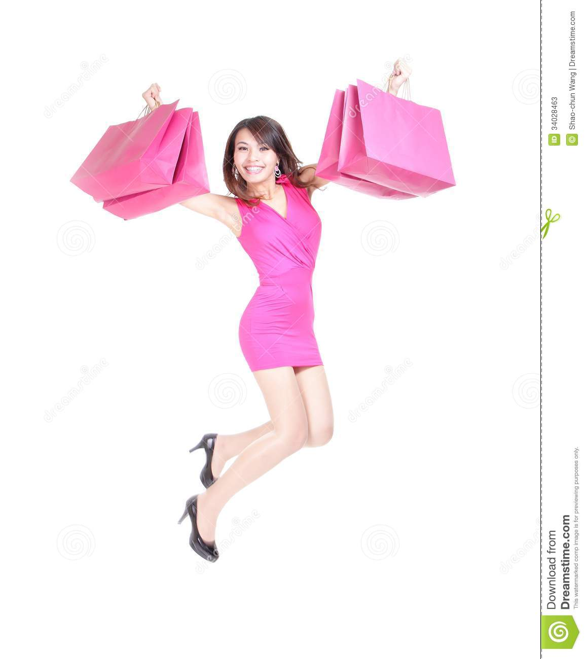 Asian happy shopping