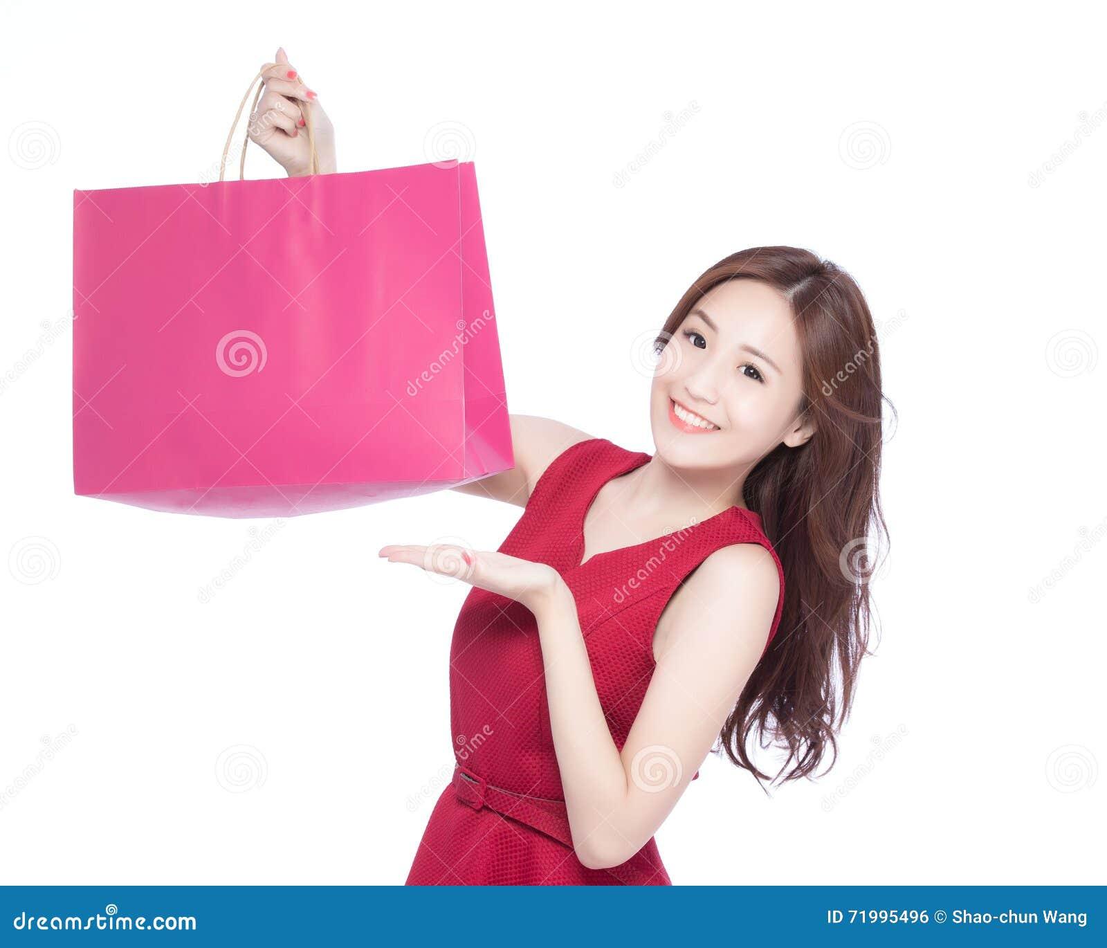 Asian happy shopping