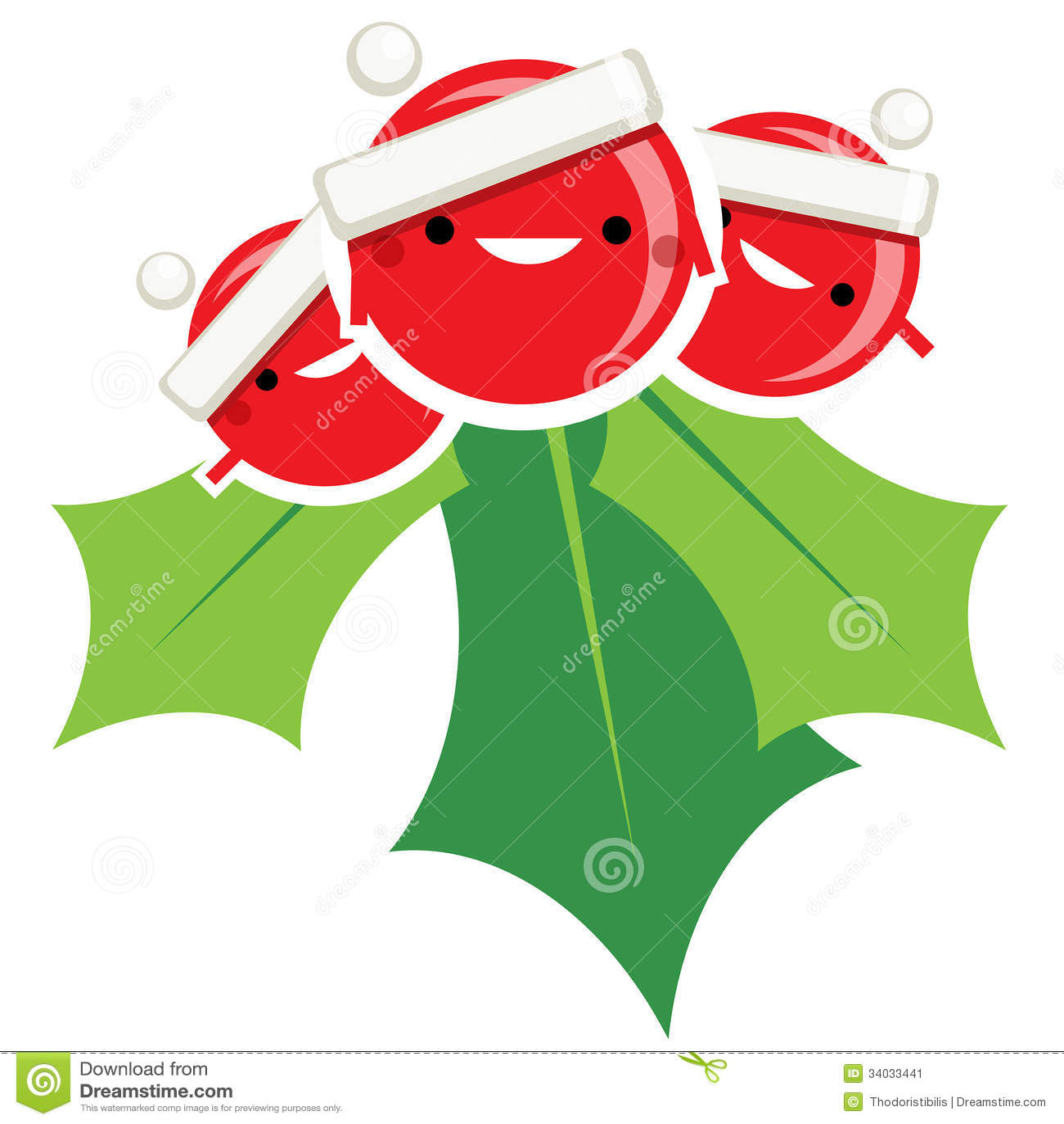 Royaltyfree Stock Photo Download Happy Simple Cartoon Smiling Christmas  Mistletoe