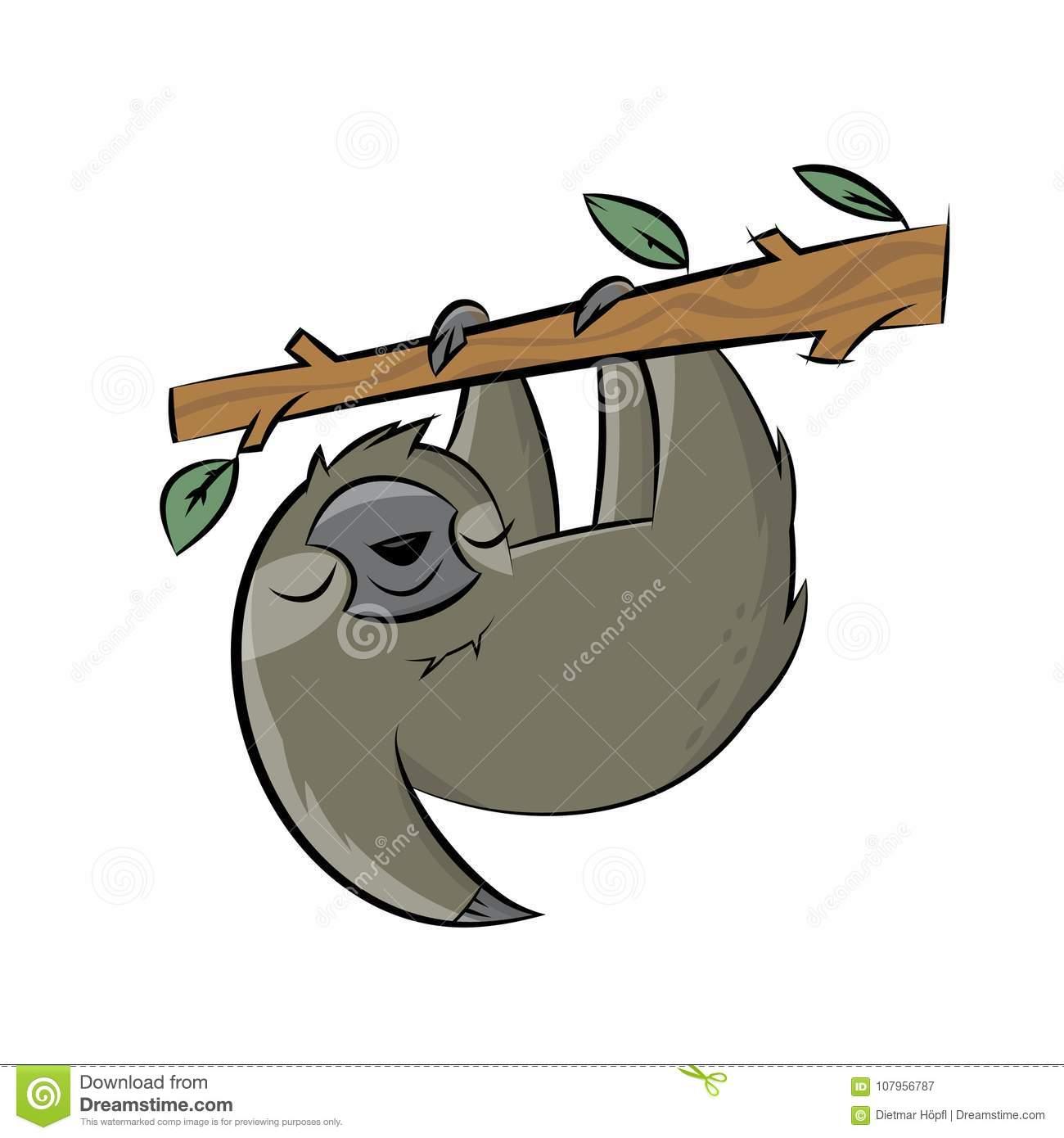 happy sloth clipart cartoon stock vector illustration of simple rh dreamstime com sloth clipart free sloth clipart images