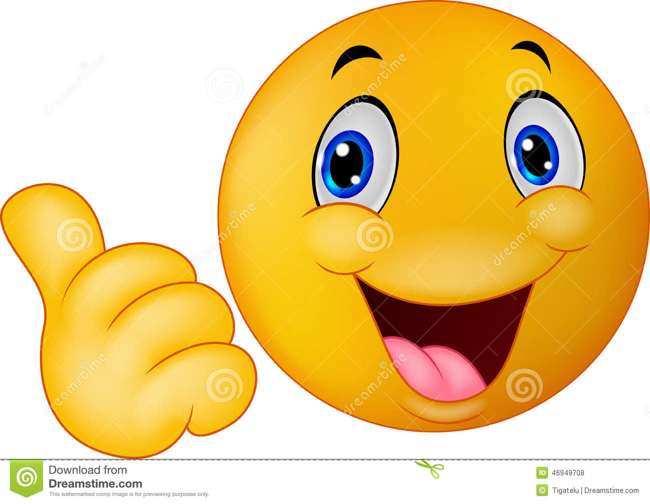 Happy Smiley Emoticon Giving Thumbs Up Stock Vector ...