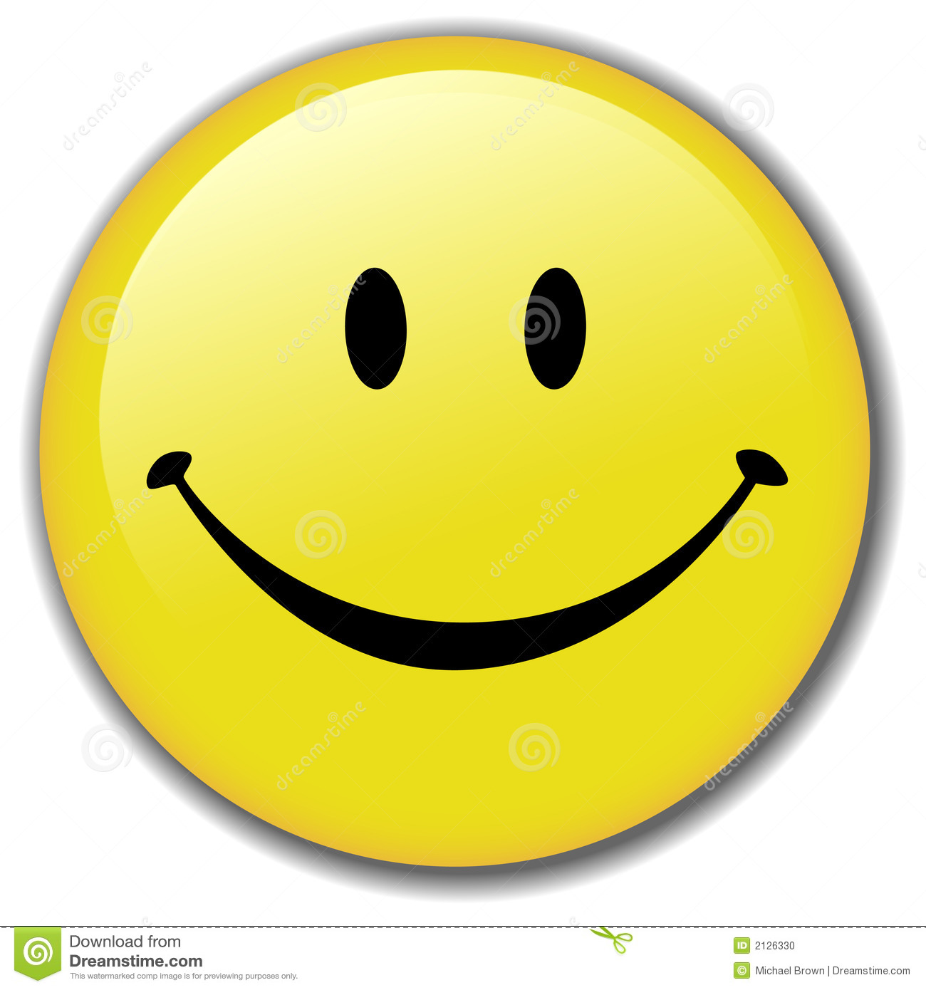 Happy Smiley Face Button, or Badge, or Icon. Have a nice day! Clean