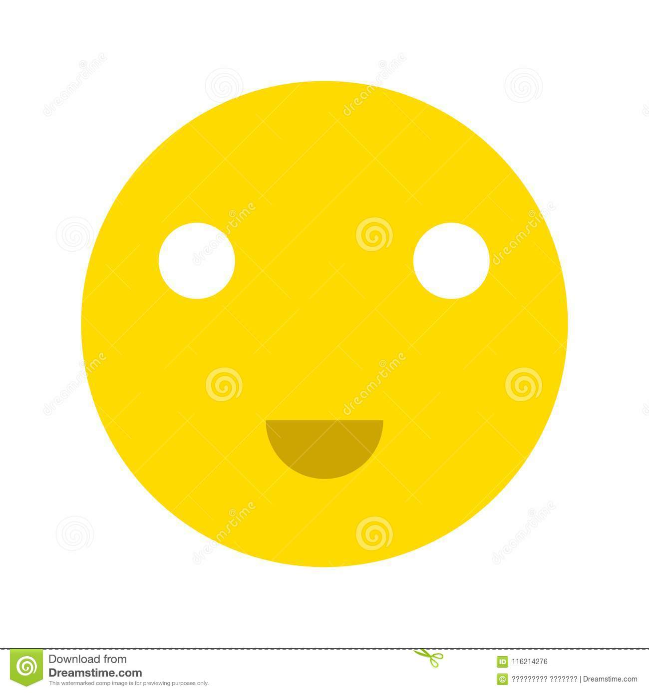 Happy Smiley Face Emoticon Icon Stock Illustration Illustration Of