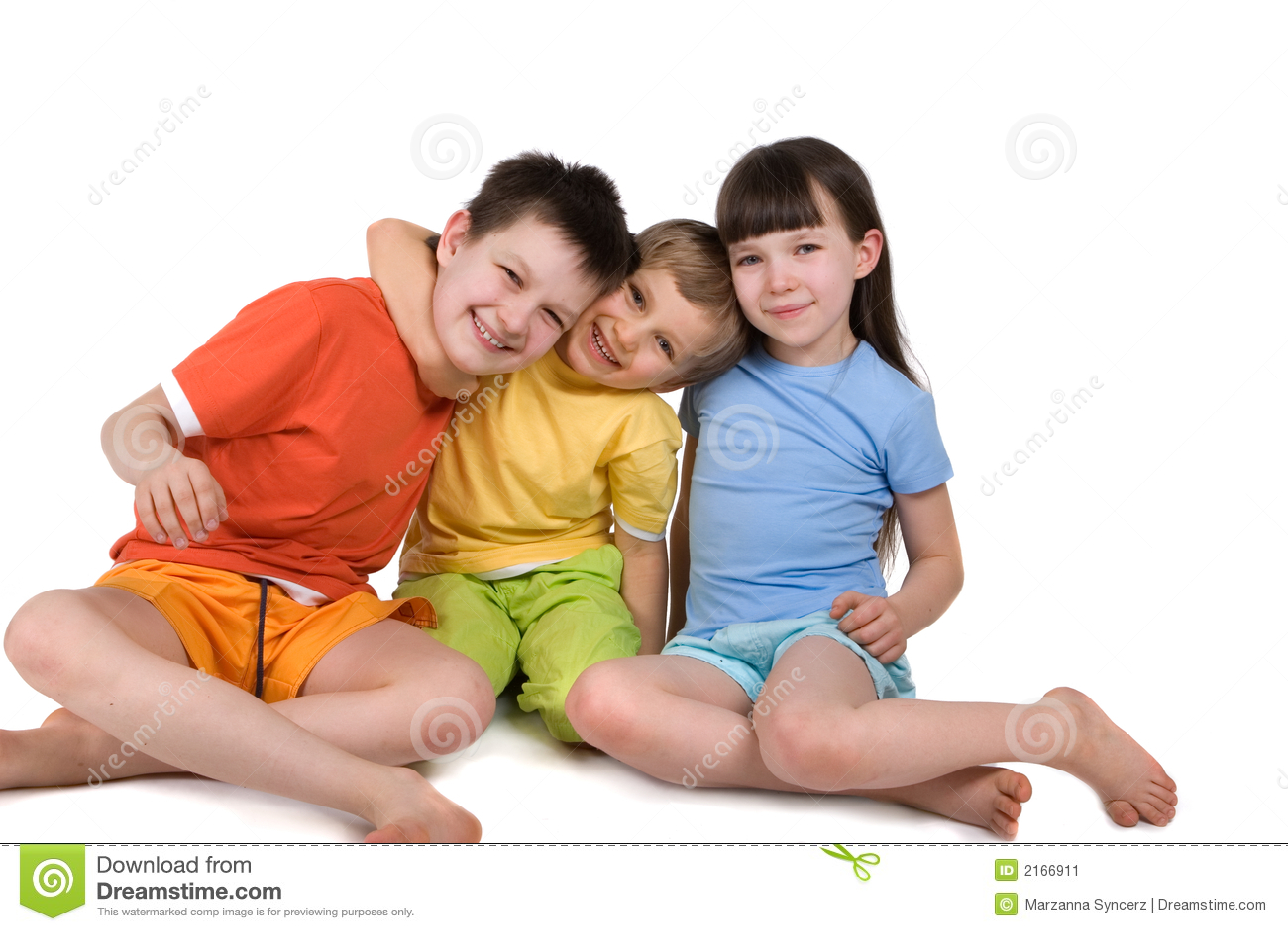 Happy Smiling Children Stock Image Image 2166911