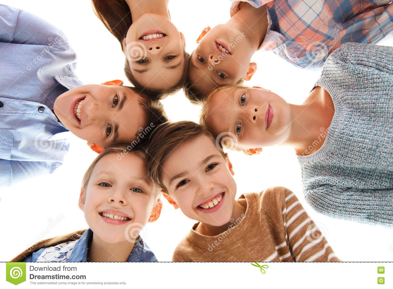 Happy Smiling Children Faces Stock Photo - Image of cute ...