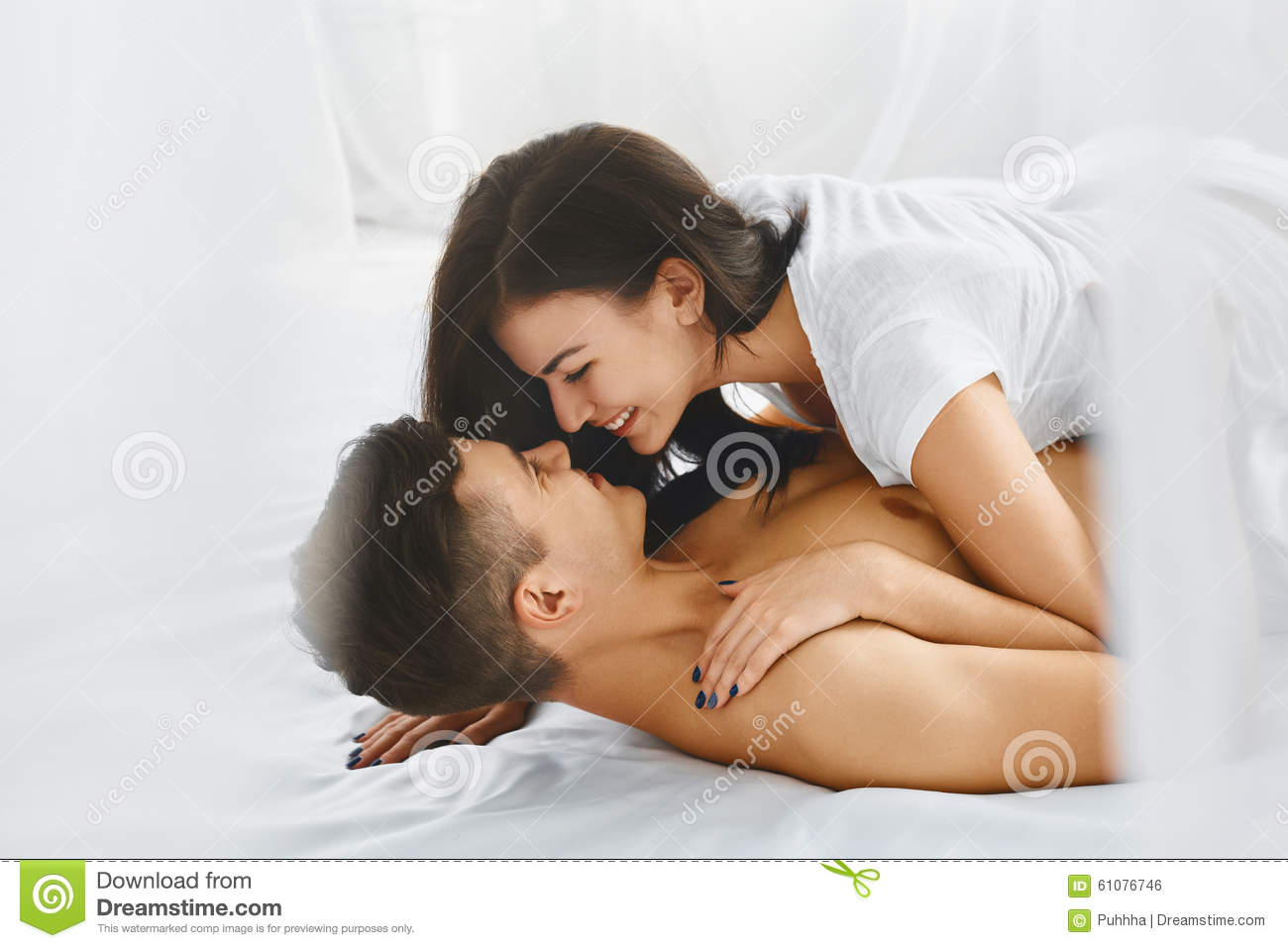 Happy Smiling Couple In Love Stock Photo Image 61076746