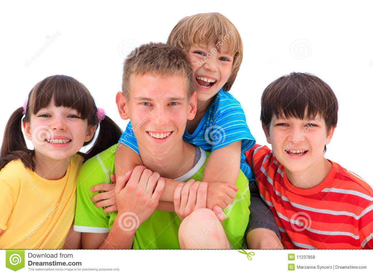 Happy, smiling kids stock photo. Image of happy, smiling ...