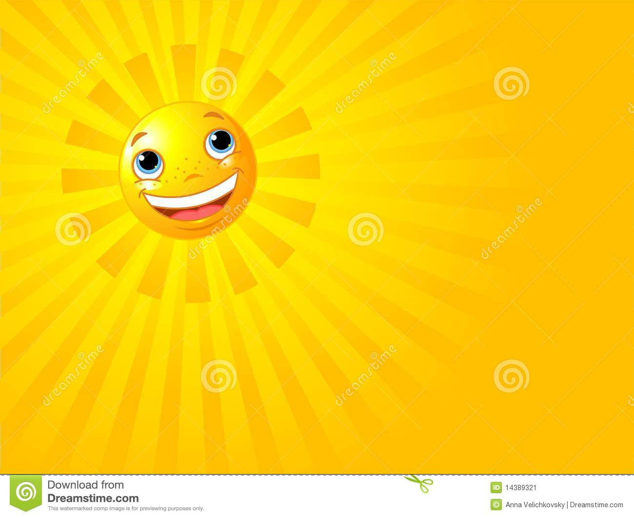 happy smiling sun summer background stock image