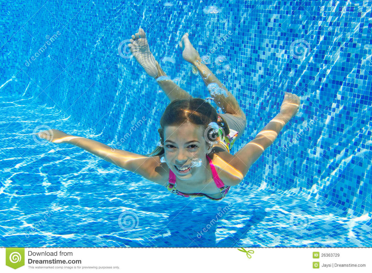 Happy Smiling Underwater Child In Swimming Pool Royalty Free Stock Images Image 26363729