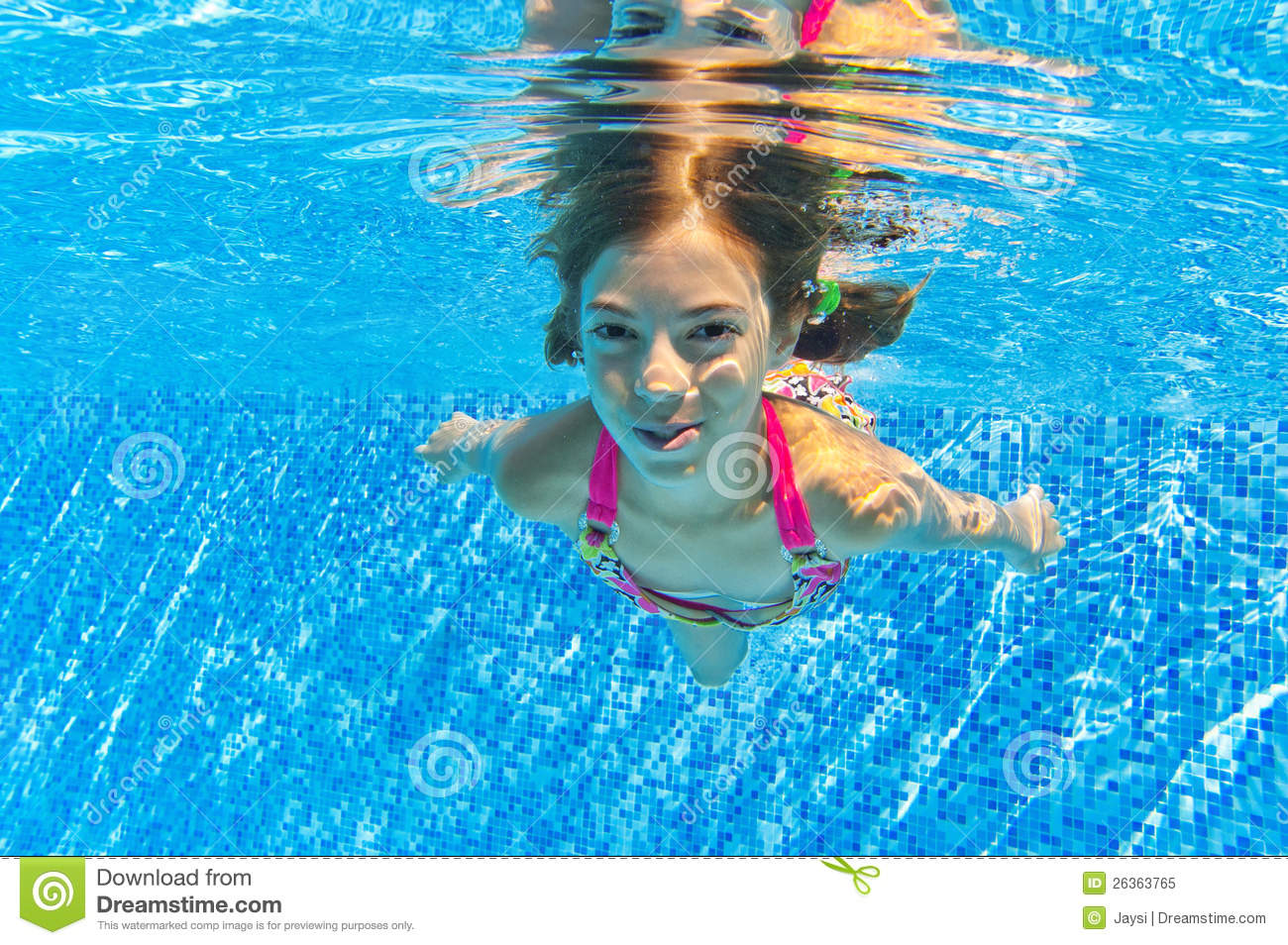 Happy Smiling Underwater Child In Swimming Pool Royalty Free Stock Photo Image 26363765