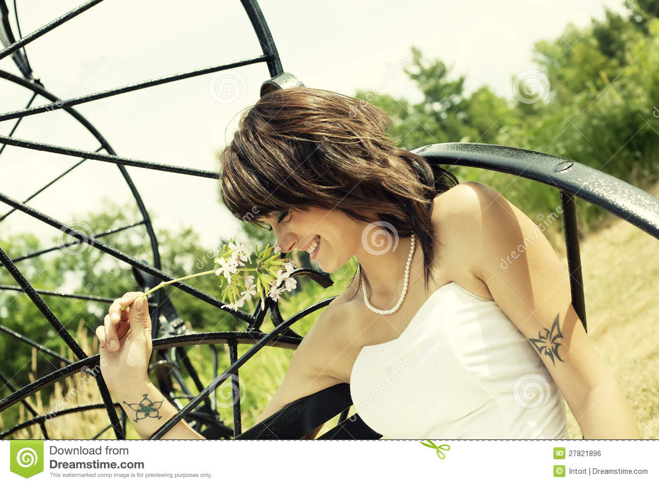 Happy Smiling Woman Enjoying Summers Day