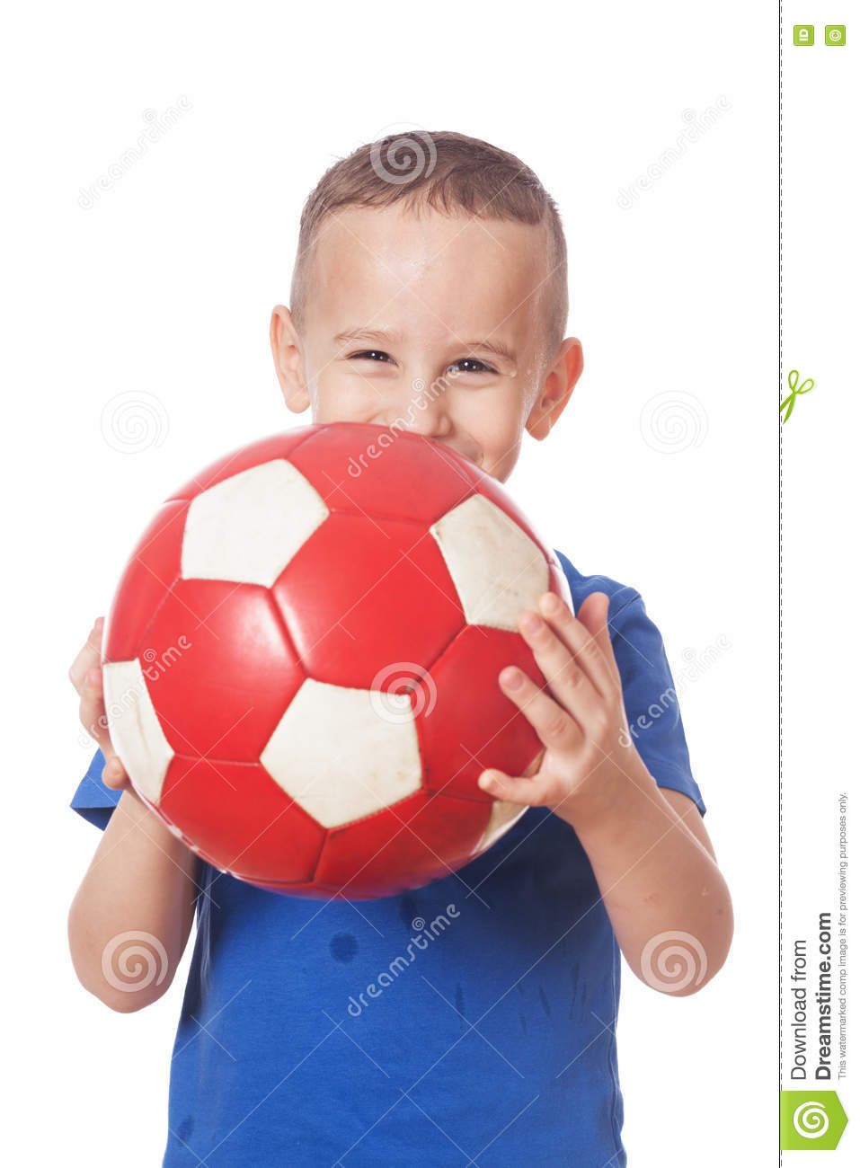 Download Happy soccer player stock photo. Image of holding, person - 82153786