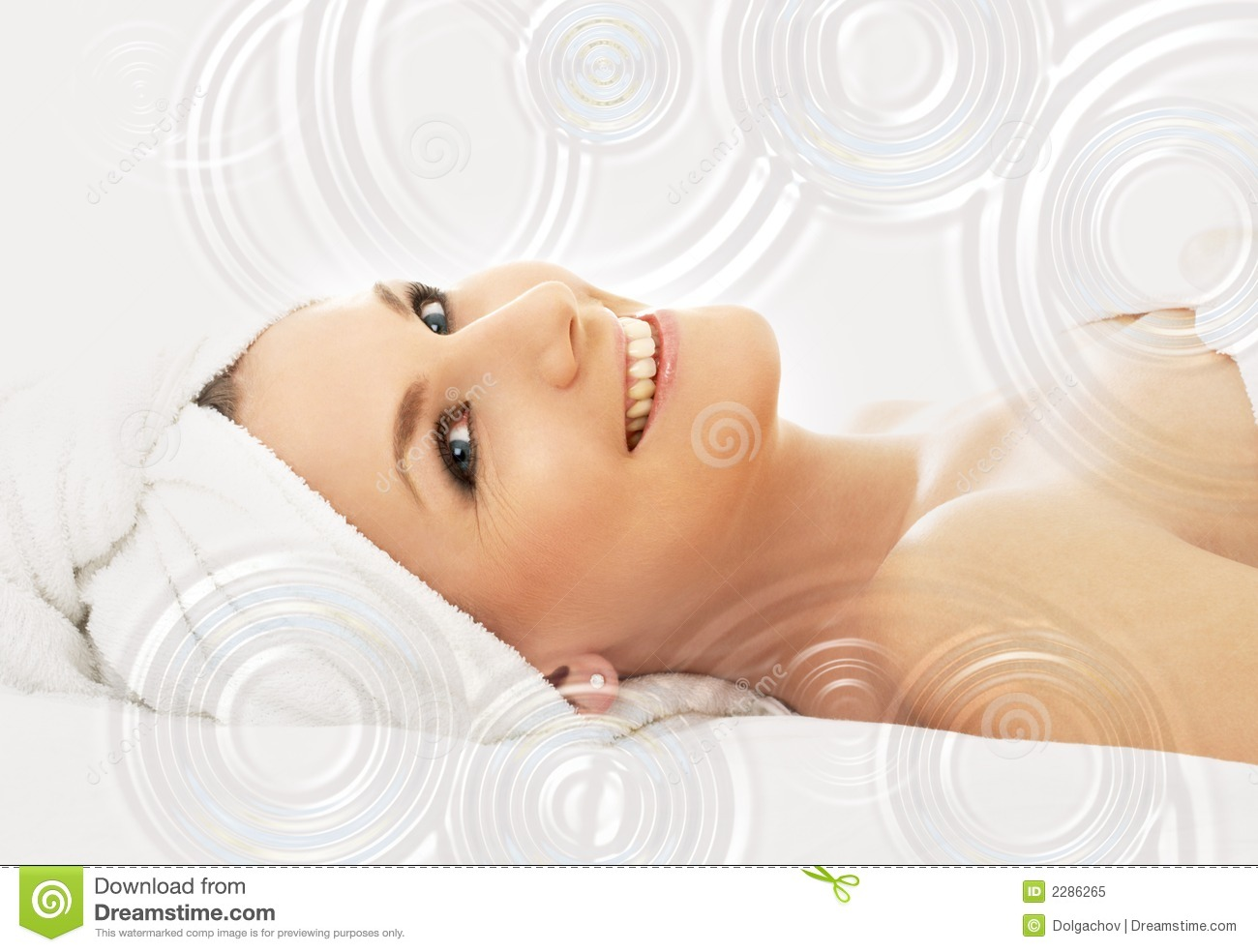 happy spa with water drops royalty free stock photo. Black Bedroom Furniture Sets. Home Design Ideas