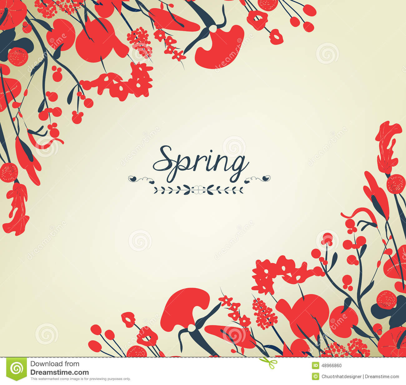 happy spring flower background vintage stock vector
