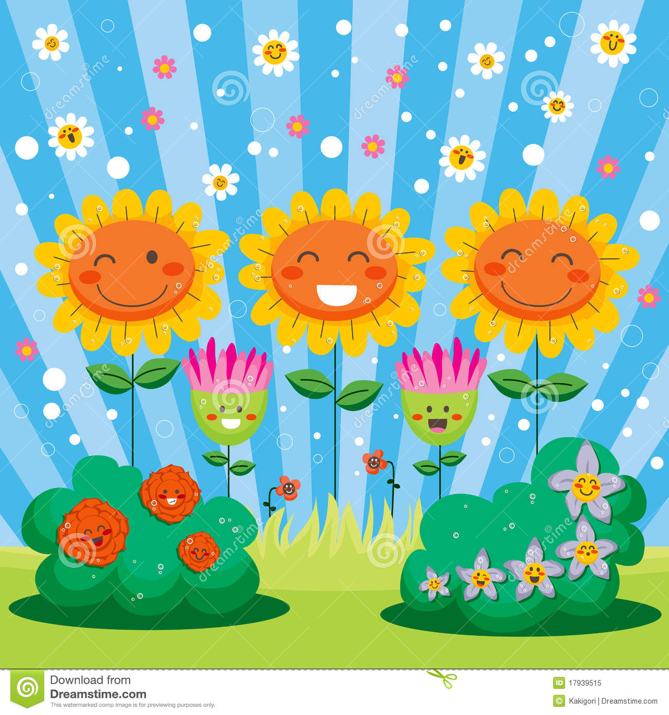 Spring flowers clipart clipart kid - Royalty Free Stock Photo