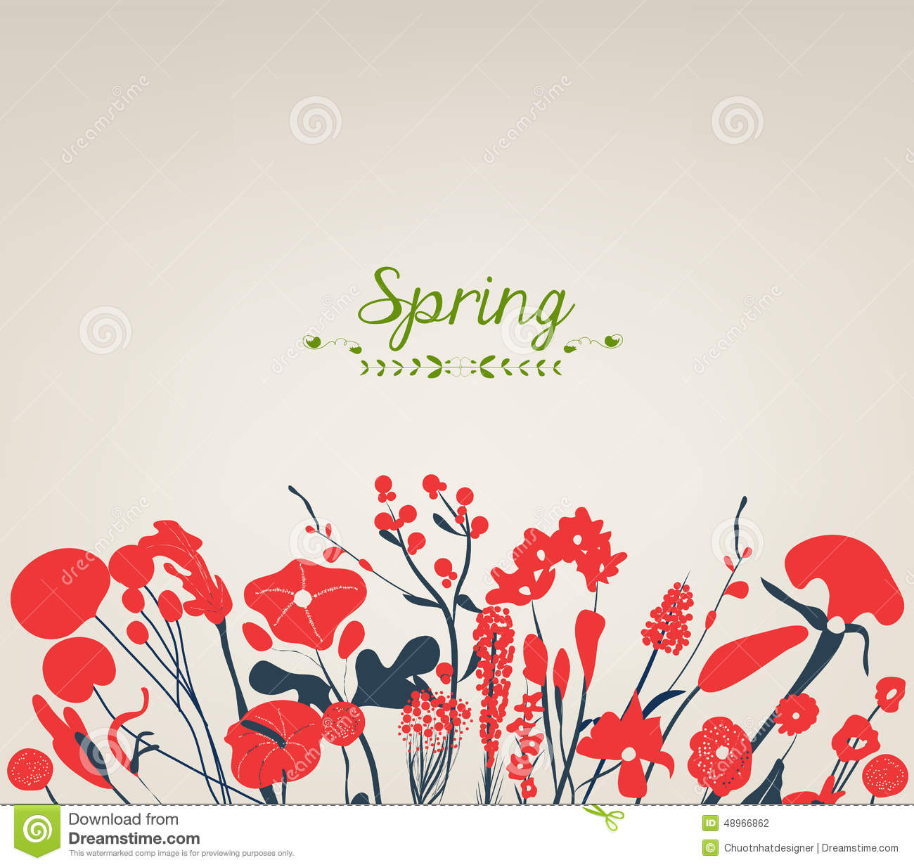 happy spring flower vintage stock vector image 48966862