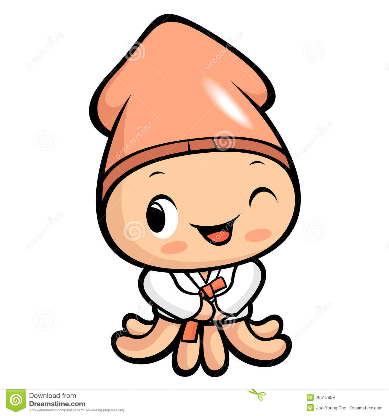 Happy squid character royalty free stock images image 26515859