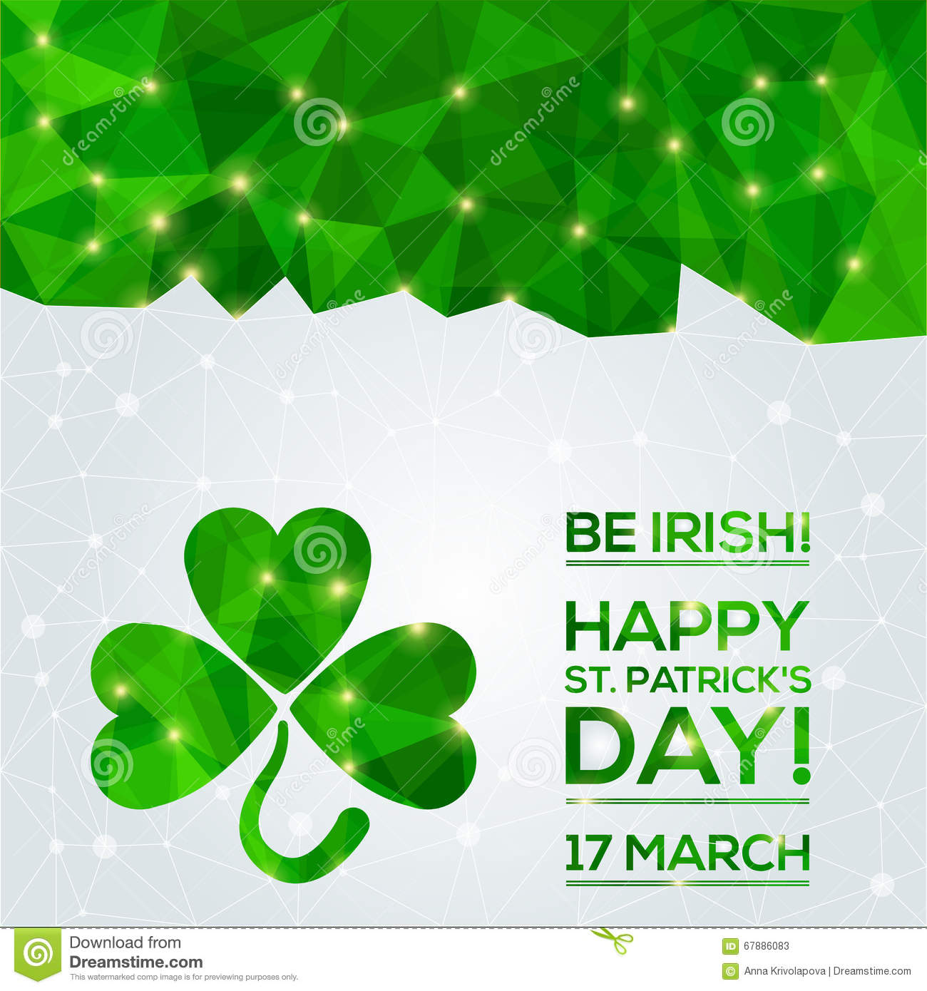 Happy St. Patrick s Day Greeting card.