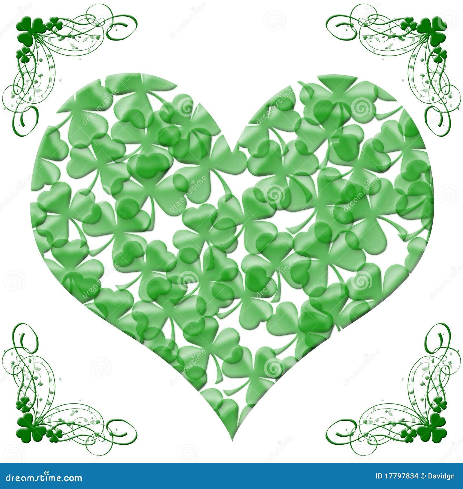 Happy st patricks day heart of shamrock leaves stock illustration happy st patricks day heart of shamrock leaves biocorpaavc Gallery