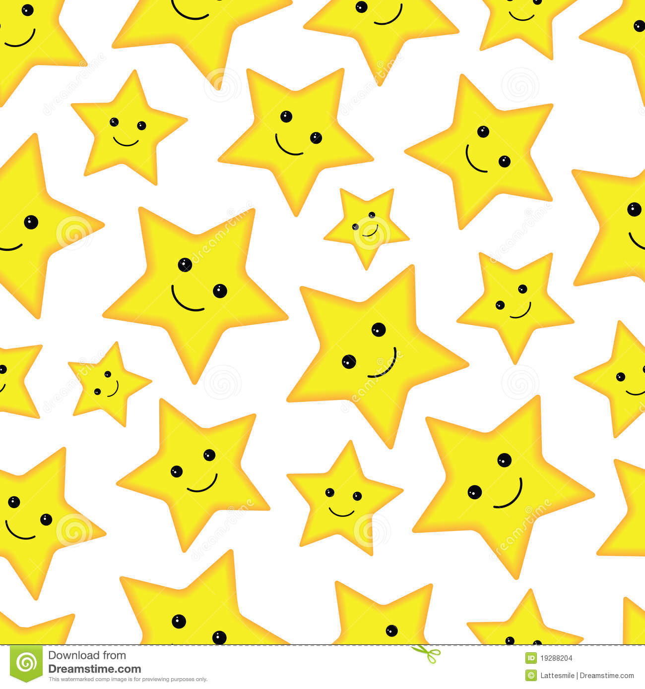 Happy Stars Seamless Pattern Stock Images - Image: 19288204
