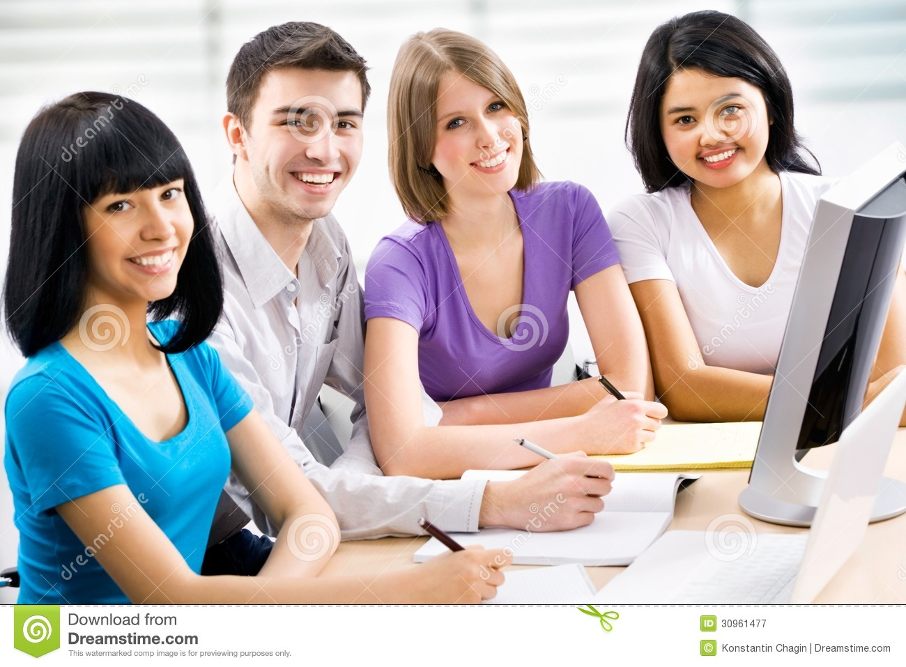 Happy students royalty free stock photography image 30961477