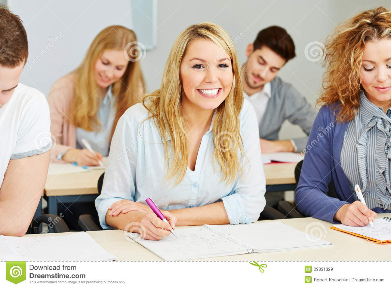 Happy Students Taking Notes Royalty Free Stock Images ...