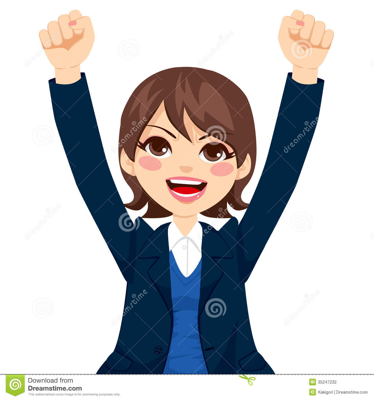 Happy Successful Businesswoman Stock Photography Image