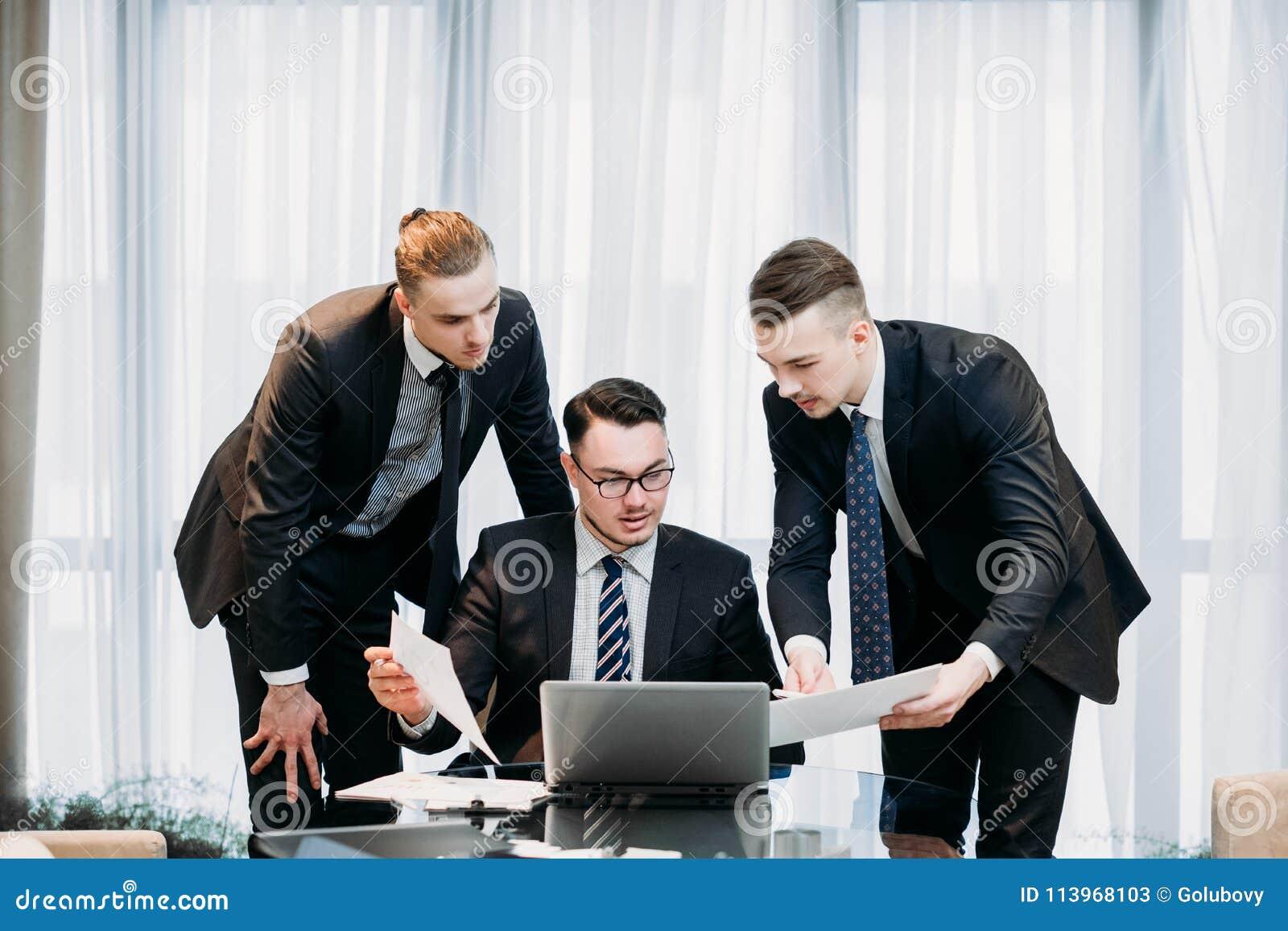 Successful team business men professional work