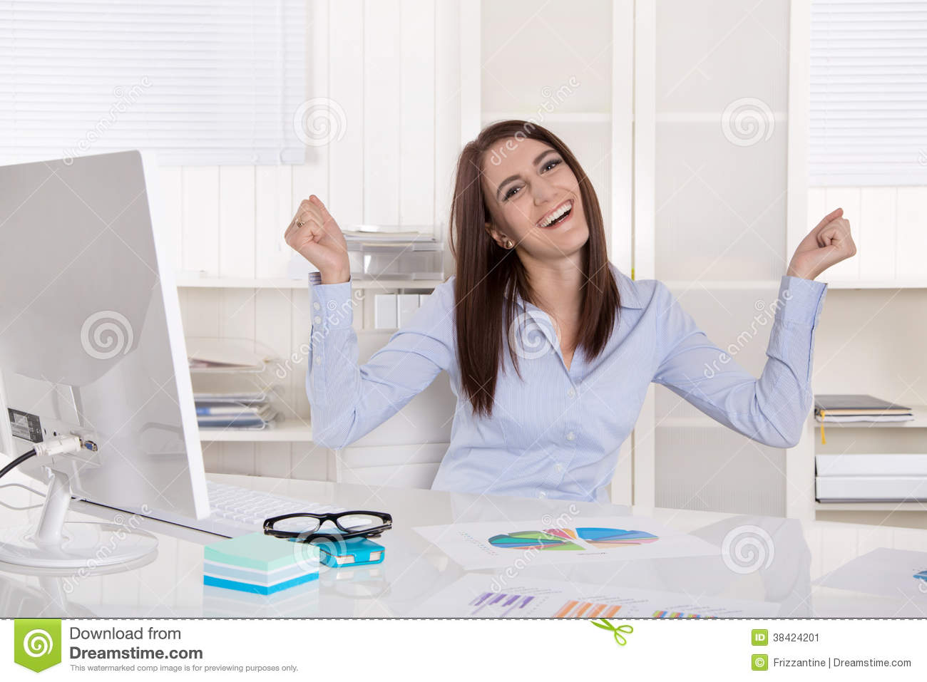 excited girl clip art