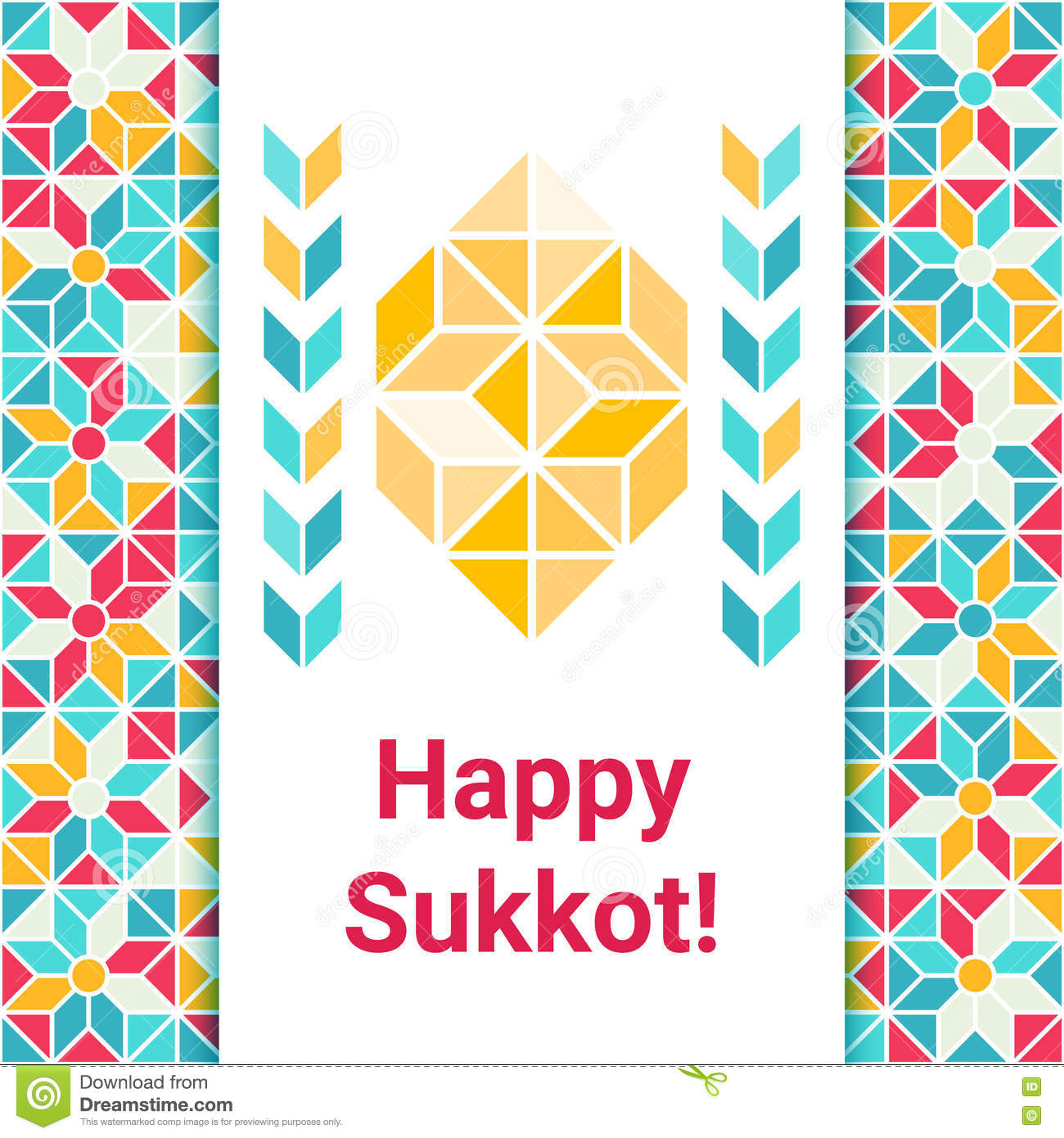 Happy Sukkot Greeting Card With Etrog Stock Photo Image Of