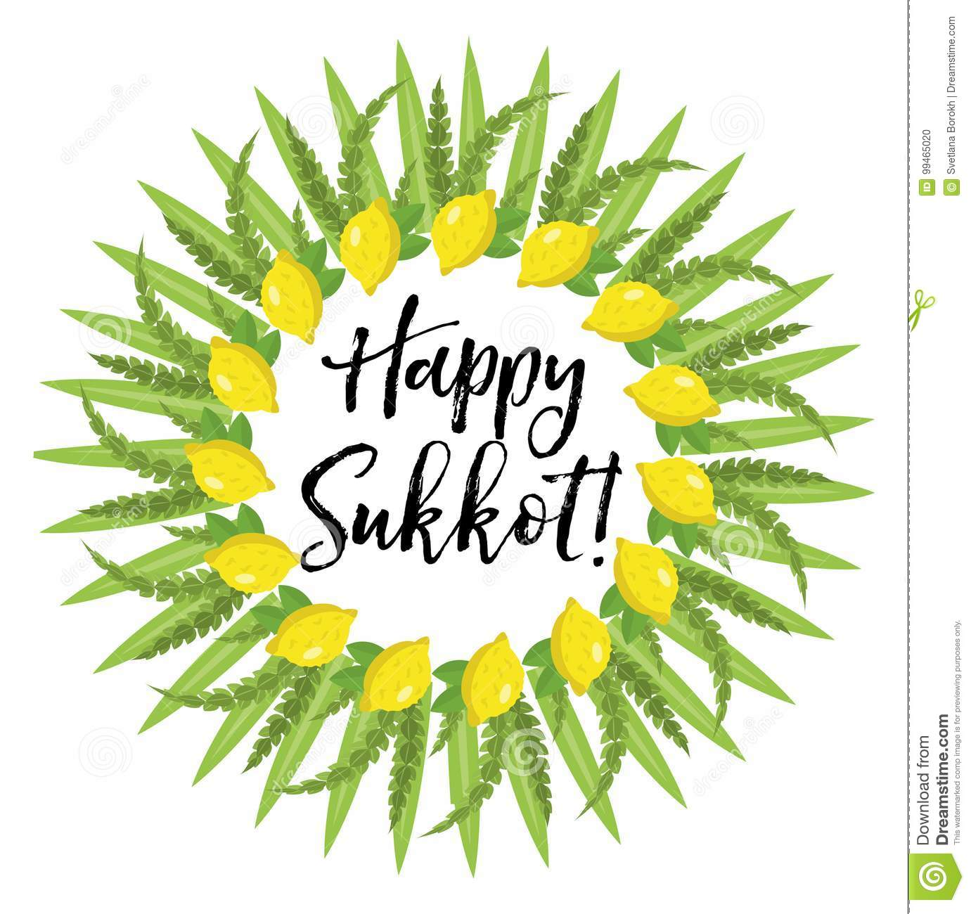 Happy sukkot round frame of herbs jewish holiday huts template jewish holiday huts template for greeting card date feast kristyandbryce Choice Image