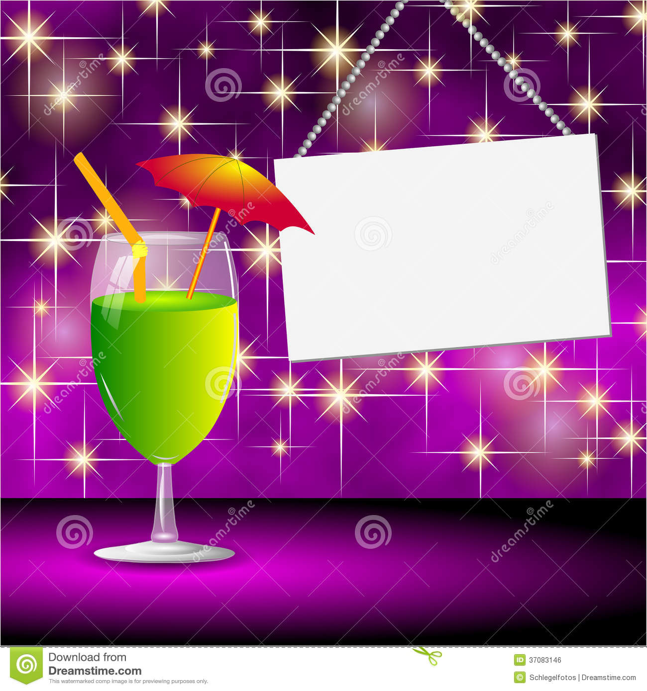 Happy Summer Cocktail Party Royalty Free Stock Image