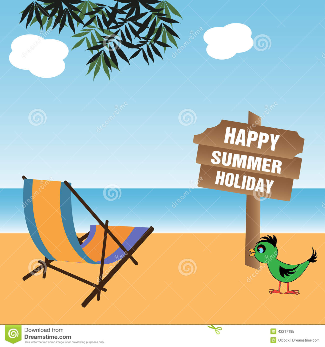 Happy Summer Holiday Stock Vector Image Of Clouds
